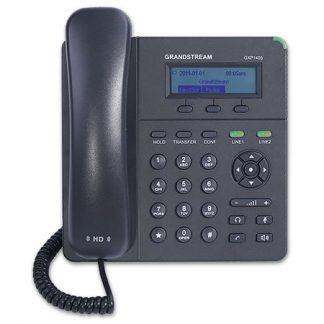 Điện thoại IP GXP1405, 2 Tài khoản SIP, Hiển thị số, Danh bạ khách hàng, 2 cổng mạng RJ45, Sử dụng mọi tổng đài IP chuẩn SIP. (Hỗ trợ Login/ Logout). Âm thanh chuẩn HD. Hỗ trợ PoE lấy nguồn qua switch mạng